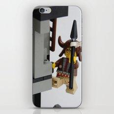 Lego Indian climbing iPhone & iPod Skin
