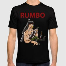 Rumbo - An incredibly violent and constantly drunk soldier of doom Mens Fitted Tee Black SMALL