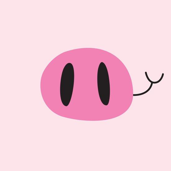 Happy Pig Minimalist Art Print