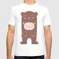WILD + BEAR print Mens Fitted Tee White SMALL