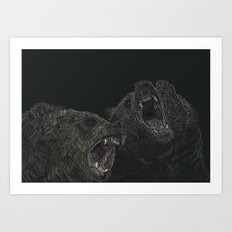 bears in pairs Art Print