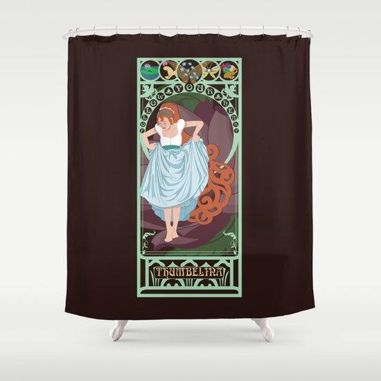 Thumbelina Nouveau - Thumbelina Shower Curtain