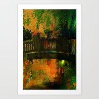 The bridge of Central Park Art Print