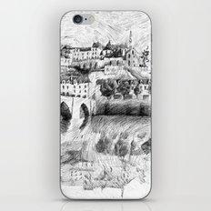 Terrasson village - Black ink iPhone & iPod Skin