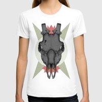 animal skull T-shirts featuring ANIMAL SKULL by Stefania Grippaldi