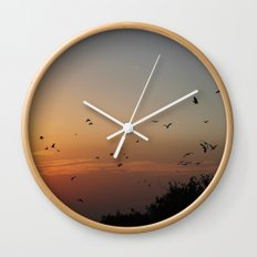 migrating birds Wall Clock