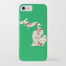 Michigan in Flowers iPhone 7 Slim Case