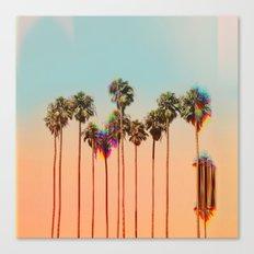 Glitch beach Canvas Print