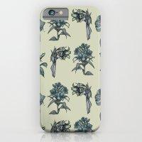 Botanical Florals   Vint… iPhone 6 Slim Case
