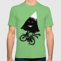 Mountain Biking Mens Fitted Tee Grass SMALL