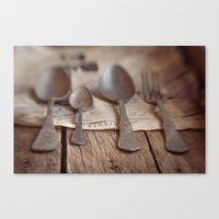 Spoons Canvas Print