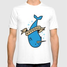 Narwhal Mens Fitted Tee White SMALL