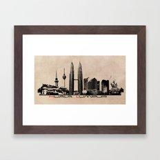 Kuala Lumpur Skyline Framed Art Print