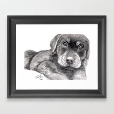 Black and White 8 Framed Art Print