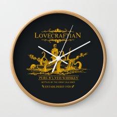 Lovecraftian Whiskey Wall Clock