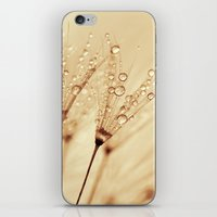 droplets of liquid gold iPhone & iPod Skin