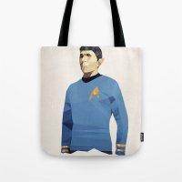 Polygon Heroes - Spock Tote Bag