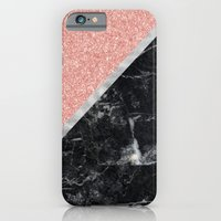 Faux Rose Glitter And Ma… iPhone 6 Slim Case