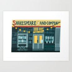 Shakespeare & Co. Art Print