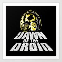 Dawn Of The Droid Art Print