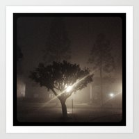 Evening fog. Art Print