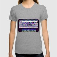 Mix Tape # 10 Womens Fitted Tee Tri-Grey SMALL
