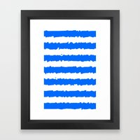 Blue Stripes Framed Art Print