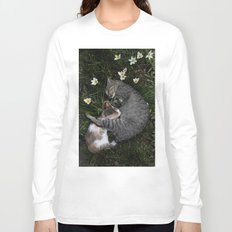 Sleep [A CAT AND A KITTEN] Long Sleeve T-shirt