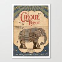 Robot Circus - Elephant Canvas Print