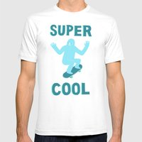 Super Cool Mens Fitted Tee White SMALL