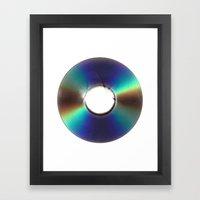 CD Scan Framed Art Print
