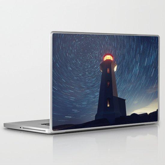 Lighthouse in the Stars Laptop & iPad Skin