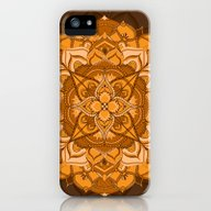 Orange Mandala Flower iPhone (5, 5s) Slim Case