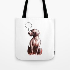 Talking Dogs Tote Bag