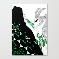 Capricorn / 12 Signs Of … Canvas Print