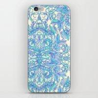 Lilac, Mint & Aqua Art N… iPhone & iPod Skin