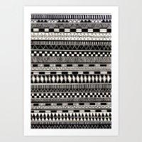 Black//white Art Print