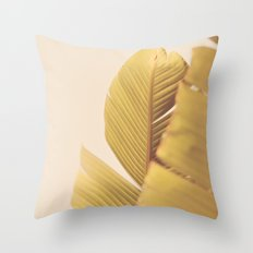 Palm Leaves Throw Pillow