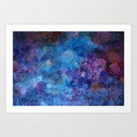 Blue Grotto Abstract Pai… Art Print