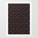 Colored Only in a Square World Art Print