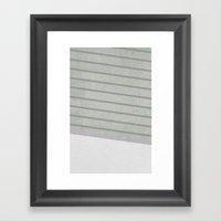 Concrete & Stripes II Framed Art Print