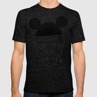 Walt Disney Mens Fitted Tee Tri-Black SMALL