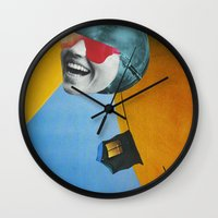 Collapsed Head Wall Clock