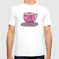 Cup Full Of Love Mens Fitted Tee White SMALL