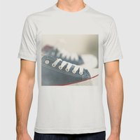 ready for walk Mens Fitted Tee Silver SMALL
