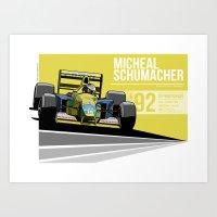 Michael Schumacher - 1992 Spa Art Print