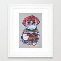 Mexican folk owl Framed Art Print
