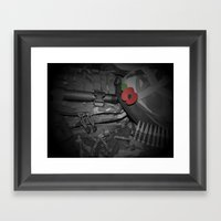 Poppy of Rememberance Framed Art Print