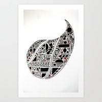 Paisley Geo Melee Art Print