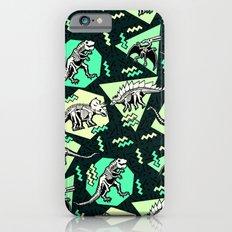 90's Dinosaur Skeleton Neon Pattern Slim Case iPhone 6s